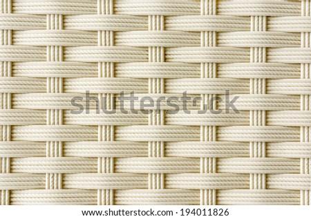 chair white  basket weave pattern - stock photo