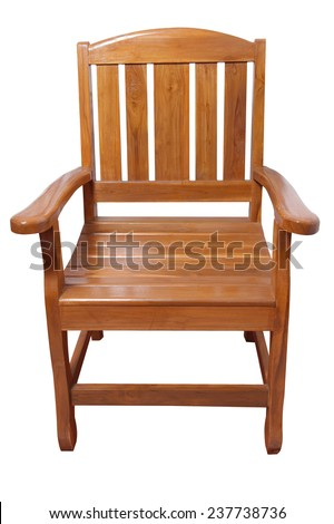 Chair with armrests rocking chair isolated on white background with clipping path.  - stock photo