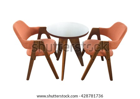 Chair with armrests rocking chair isolated on white background with clipping path.