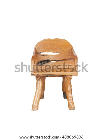 chair wooden isolated on white background