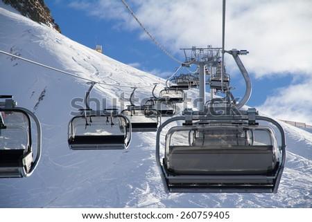 Chairlift Ski Resort Krasnaya Polyana Sochi Stock Photo Royalty