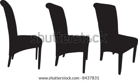 Chairs illustration - stock photo