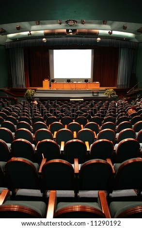 chairs in auditorium - stock photo