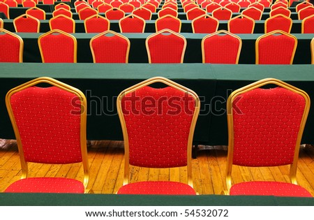 Chairs in conference room, nice arrangement - stock photo