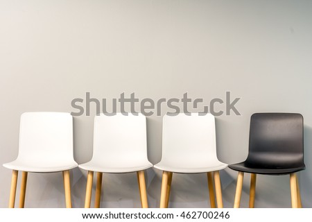 Chairs Modern Design Arranged Front Gradient Stock Photo 465705089