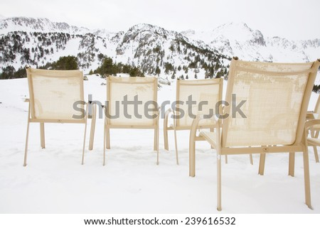 Chairs in the mountain