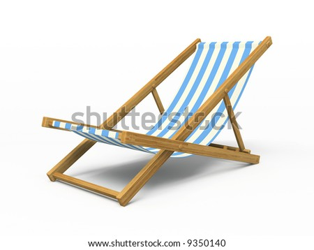 Chaise longue isolated on white background 3D rendering