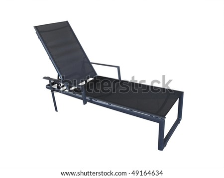 chaise longue outdoor isolated with clipping-path