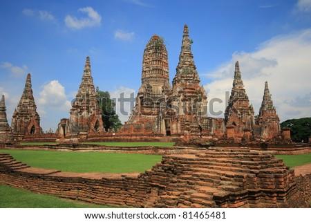 Chaiwattanaram, historic temple in Ayutthaya, Thailand - stock photo