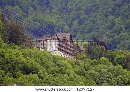 Chalet in Montreux - stock photo