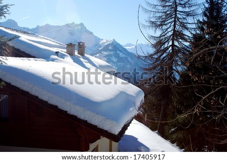 Chalet in swiss Alps