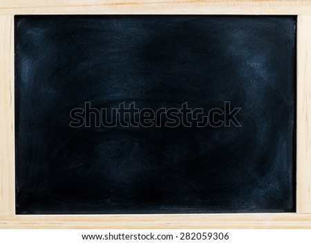 Chalk board o texture, Blackboard, Chalk board with chalk traces. - stock photo