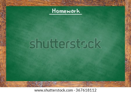 chalk board texture with old vintage stripe wooden frame green color blackboard concept:homework school board backdrop with copy-space concept:education/studying/learning wallpaper display idea  - stock photo