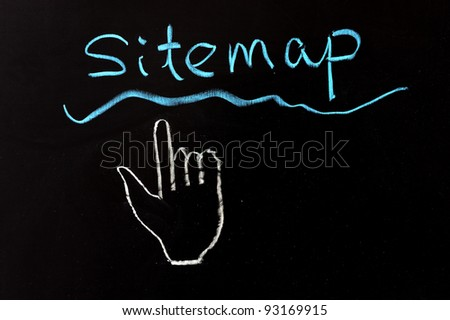 Chalk drawing - Sitemap