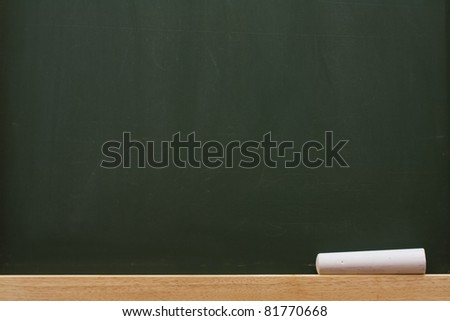 Chalk on a chalkboard with lots of copy space, School Days