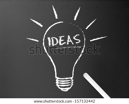 Chalkboard - Ideas - stock photo