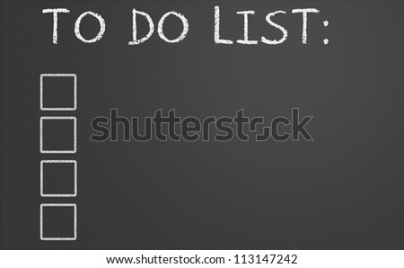 chalkboard image with empty to do list - stock photo