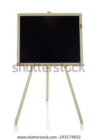 Chalkboard  isolated on the white background, clipping path included. - stock photo