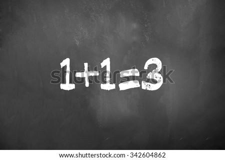chalkboard Maths - stock photo