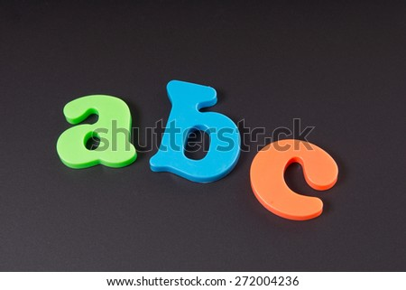 Chalkboard with the letters ABC / ABC - stock photo