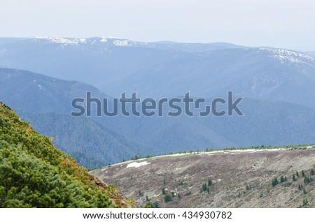 Chamar-Daban Cherskiy peak , mountains - stock photo