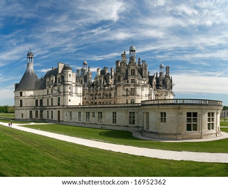 Chambord Castle on the Loire River. France. Europe - stock photo