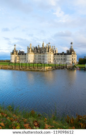 Chambord chateau  in the Loire Valley, France - stock photo