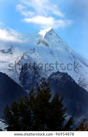 Chamonix Mountains, French Alps, France - stock photo