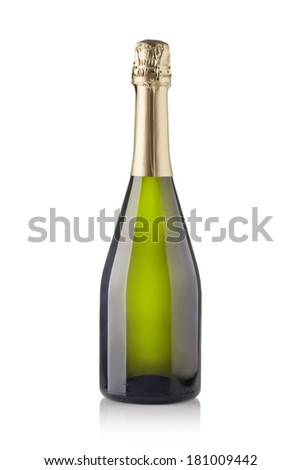 champagne bottle. isolated on white background