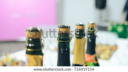 champagne bottles with corks