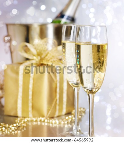 Champagne.Celebration. - stock photo