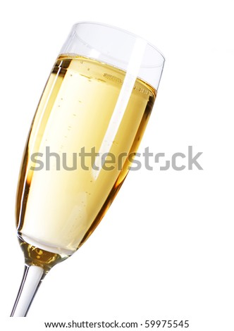 Champagne over white background - stock photo