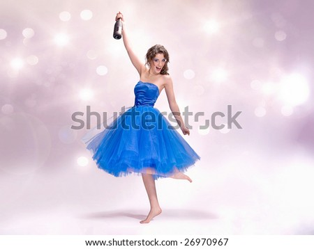 Champagne party time - stock photo