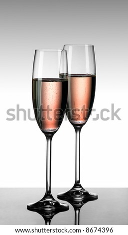 Champagne rose - stock photo