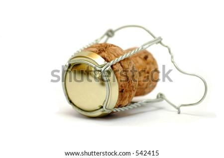 Champagne's cork - color - stock photo