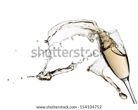 Champagne splash from a glass