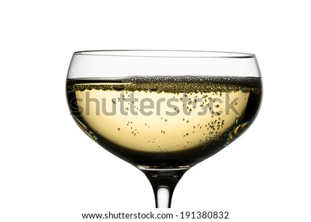 champagne with champagne glass. symbolic photo for celebrations and new year. - stock photo