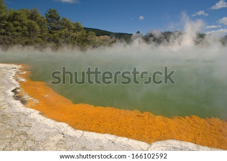 Champagner Pool, Waiotapu Geothermal Wonderland, Rotorua, North Island, New Zeeland