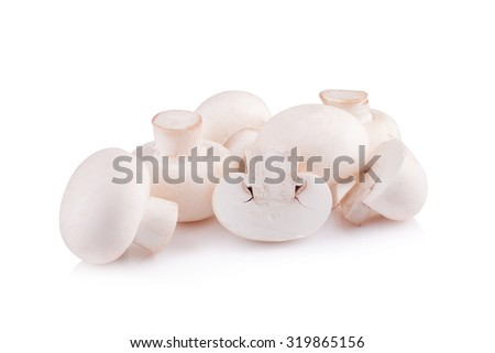 Champignon Isolated on White Background - stock photo