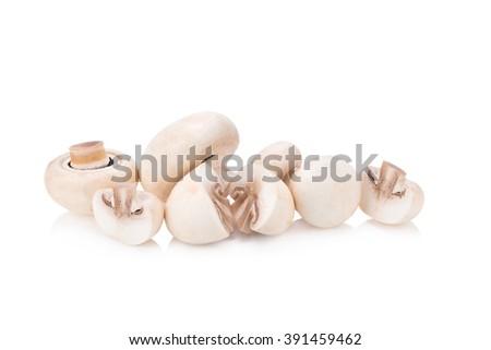Champignon Isolated on White Background. - stock photo