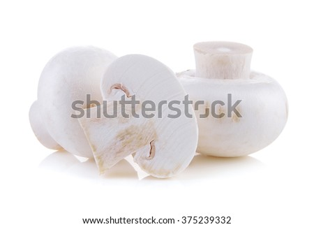 Champignon mushroom isolated on white background