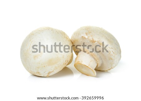 Champignon mushroom isolated on white background. - stock photo