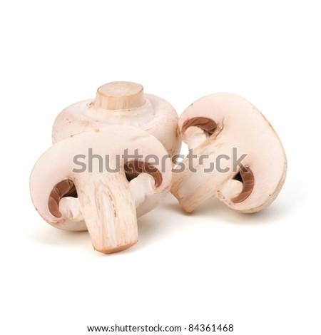 Champignon mushroom isolated on white background - stock photo