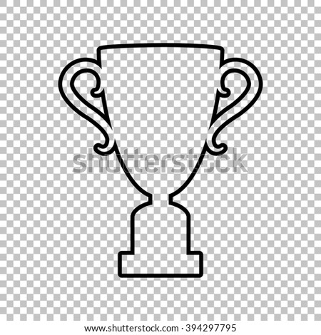 Champions Cup Line Icon On Transparent Background