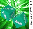 Chance, Win, Lose Dice Background Showing Gamble Losers And Winners  - stock photo
