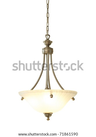 Chandelier isolated on white - stock photo