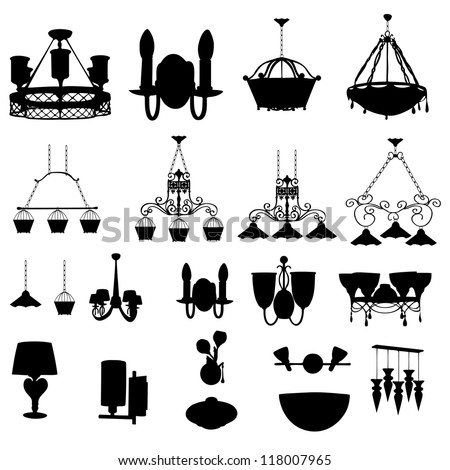 Chandelier silhouette raster version stock illustration 118007965 chandelier silhouette raster version aloadofball Images