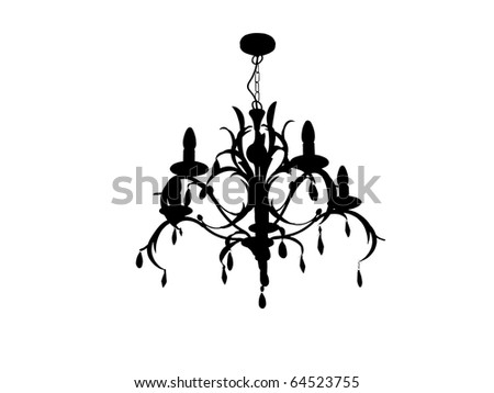Chandelier with crystals and leafy design