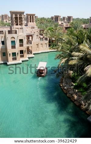 Chanel in Arabian style hotel Jumairah - stock photo