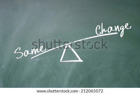change and same concept  - stock photo